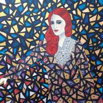 """""""Undine"""" (2016), Acrylic on wood, 60 x 60 cm - AVAILABLE"""