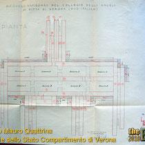 Qui sotto e' invece possibile notare la struttura interna del rifugio, la suddivisione delle stanze e la posizione degli ingressi