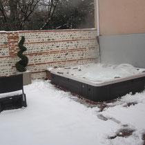 utilisation spa hiver, energie controlée