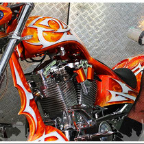 "Orange County Custom Bike - Design und Umsetzung by ""Obsn"""