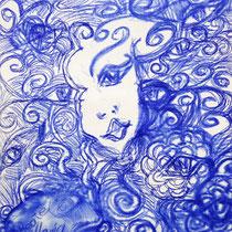 Meditationsmalen auf Künstlerpapier,  H 40 cm x B 30 cm