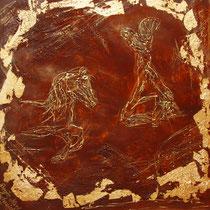 Mischtechnik auf Leinwand, ca. B 70 cm x 70 cm