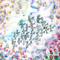 Aquarell auf Künstlerpapier, ca. B 35 cm x H 48 cm