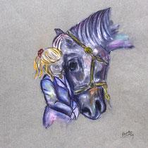 Pastellkreide auf Künstlerpapier, ca. H 50 cm x B 36 cm