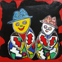 Acryl auf Leinwand, ca. H 70 x B 70 cm