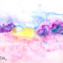Aquarell auf Künstlerpapier