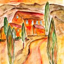 Aqarell auf Künstlerpapier