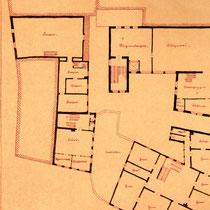 Plan des Weppert'schen Hauses, 1. Obergeschoß