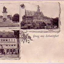 Bild links unten, rechtes Haus Cafe Schneider - ca. 1905