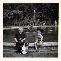 Springbrunnen in den Wehranlagen 1950 - Danke an Klaus Best (im Bild)