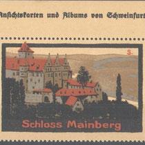 Schloss Mainberg auf alter Reklamemarke