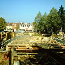 1985 - Brücke über den Marienbach entsteht