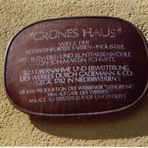 """Schild zum """"Grünen Haus"""""""