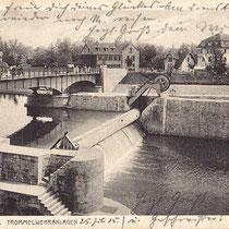 Alte Walzenwehr in Schweinfurt um 1920