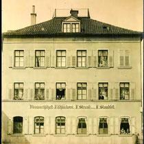 Weinwirtschaft und Fischbäckerei Strauß und Standfest um 1910