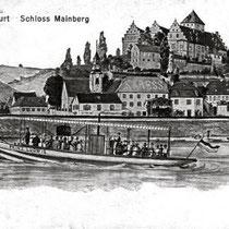 Dampfer Prinz Luitpold im Jahre 1917 vor Schloß Mainberg