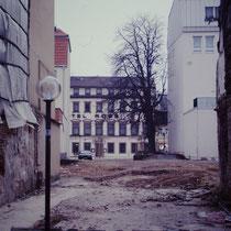 Von der Langen zehntstraße aus .... Durchsicht bis auf den Georg-Wichtermann-Platz (damals Alter Postplatz)