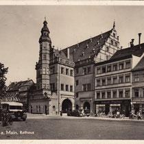 Rathaus - Ca. 1934 mit Rückertbuchhandlung - Danke an Florian Kohl