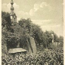 Stadtmauer mit Salvatorkirche 1910