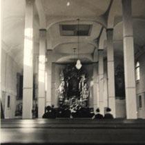 Innenansicht der Kirche St. Josef im Jahr 1935 - Danke an Thomas Horling