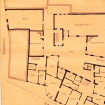 Plan des Weppert'schen Hauses, Erdgeschoss