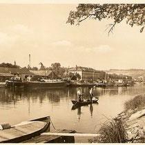 Der Ländeplatz - um 1940