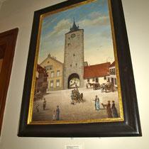 Ein Gemälde des Obertors im Museum für Stadtgeschichte Schweinfurt
