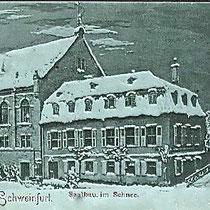Saalbau im Schnee um 1900