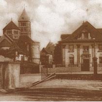 Barthelvilla MIT STADTMAUER UND HEILIG-GEIST-KIRCHE 1928