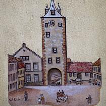 Das Obertor - Wandgemälde in der Gaststätte Obertor Foto: Dieter Bauer