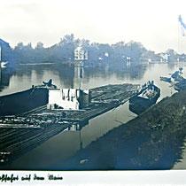 Floß auf dem Main um 1939