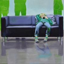 Sofa 4hoch2 #1, Öl auf Leinwand, 2014, 110 x 110   (saled)