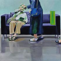 Sofa 4hoch2 #5, Öl auf Leinwand, 2014, 110 x 110