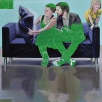 Sofa 4hoch2 #12, Öl auf Leinwand, 2014, 110 x 110