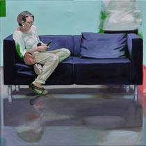 Sofa 4hoch2 #15, Öl auf Leinwand, 2014, 110 x 110   (saled)