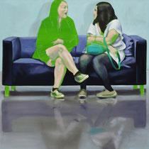 Sofa 4hoch2 #3, Öl auf Leinwand, 2014, 110 x 110   (saled)