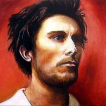 Christian Bale / 50 x 50 cm / Öl auf Leinwand /