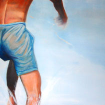 À la mer / Acryl auf Leinwand / 90 x 70 cm /