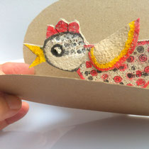 Vogel in einer Geschenkkarte