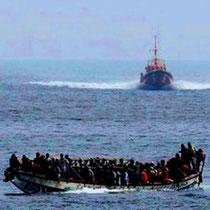 Flygtninge fra Afrika på vej til De Canariske Øer