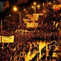 60.000 demonstrerer i Athen den 17.november, for at mindes folkeopstanden mod det fascistiske militærdiktatur i 1973