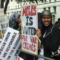 Somalis i protest mod Warlords og deres støtter