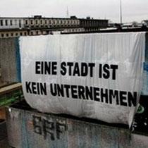 """Hamburg: Mod gentrificeringen af vores byer - """"Byen er ingen virksomhed"""""""