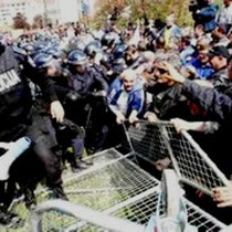 Sarajevo: Demonstration mod regeringen i Bosnien