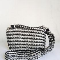 カンボジア雑貨 缶トップバッグ(M) 黒