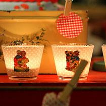 Teelichter mit Oblaten