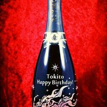 誕生祝い オリジナル シャンパン ロゴ ワイン ボトル スワロ  世界で1つ オーダーメイド 格安 製作 東京 ノベルティ  酒 名前 プレゼント おしゃれ オーダー