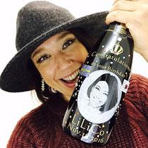 東京 スワロ ノベルティ 誕生祝い オリジナル  シャンパン  ワイン 写真 モエ・エ・シャンドン 世界で1つ 名前 ロゴ おしゃれ 格安 製作 酒 オーダー