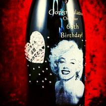 写真  オリジナルボトル ワイン シャンパン 世界で1つ 格安 名入れ 製作 東京 スワロ お祝い プレゼント