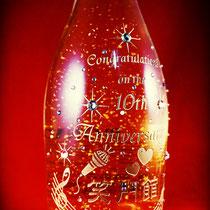 開店記念 名前  金箔 オリジナル シャンパン ワイン ボトル 世界で1つ オーダーメイド 格安 製作 東京 ノベルティ おしゃれ 酒 オーダー